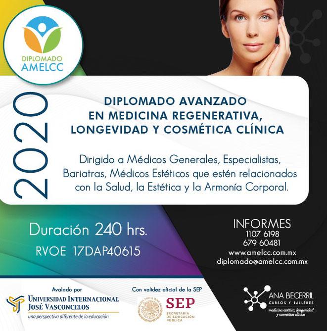 Diplomado Avanzado en Medicina Regenerativa, Longevidad y Cosmética Clínica