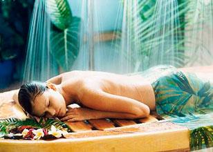 Masaje relajante Vichy con agua de mar