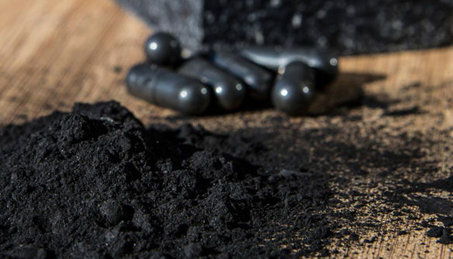 Carbón activado en cosmética.